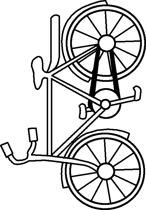 how to draw bike for kids clipart best Bicycle Coloring Pages  Bike Printable Coloring Pages