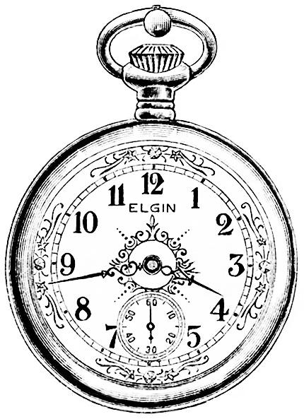 Clock Watch Drawing Image Elgin Watch Magazine