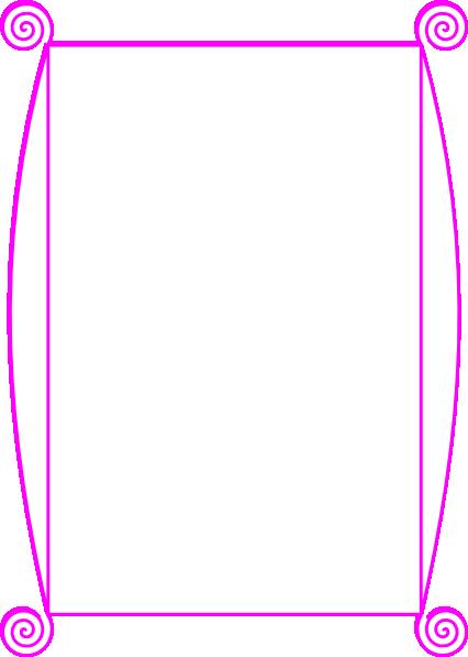 Pink Border clip art - vector clip art online, royalty free ...