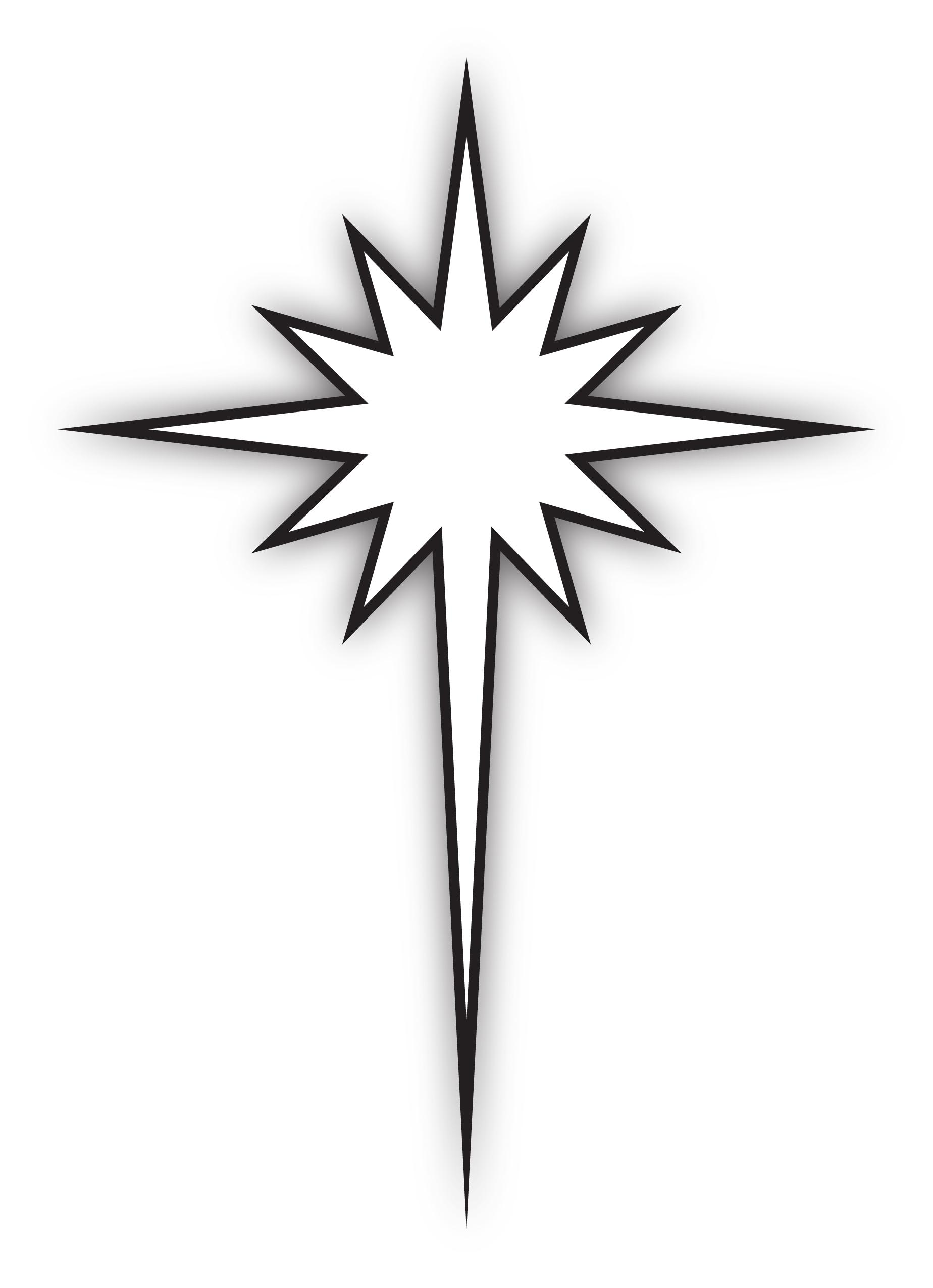 black and white star of bethlehem Car Tuning