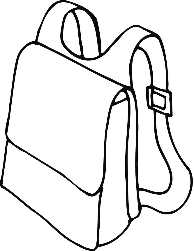 printable outline of a backpack with straps - Coloring Point ...