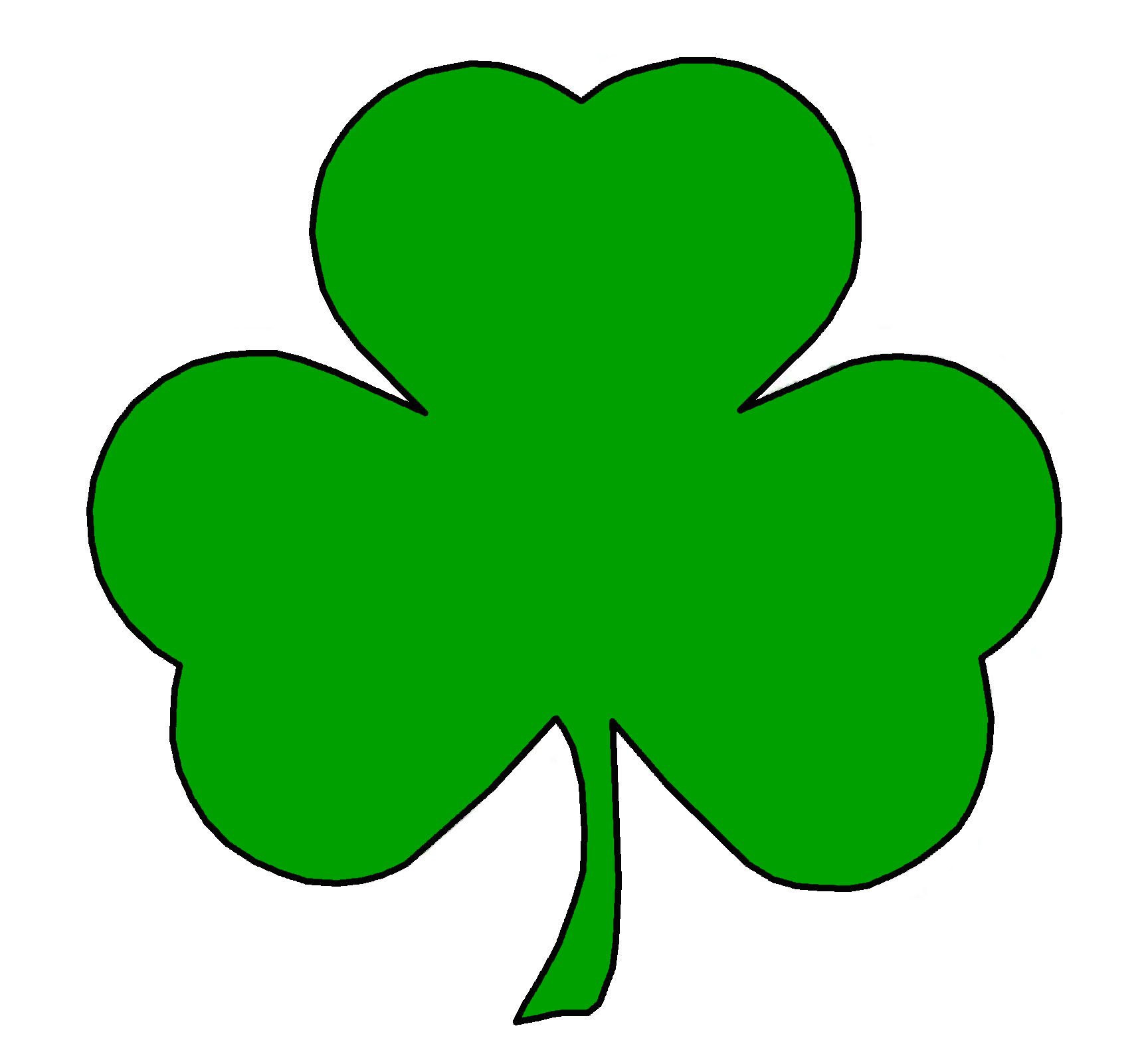 Simplicity image for printable shamrock images