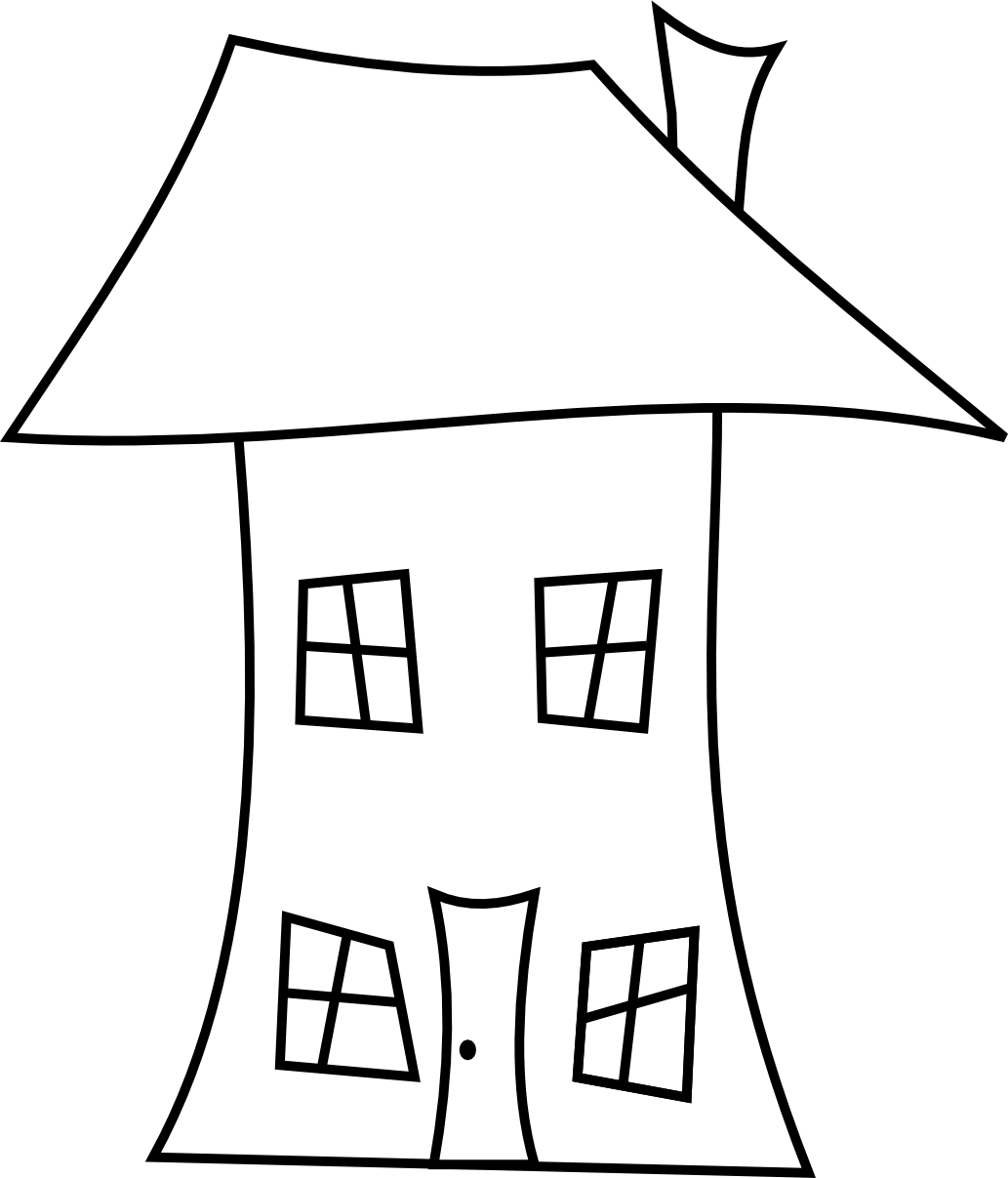 Line Art Images Of Houses : House line drawing clipart best
