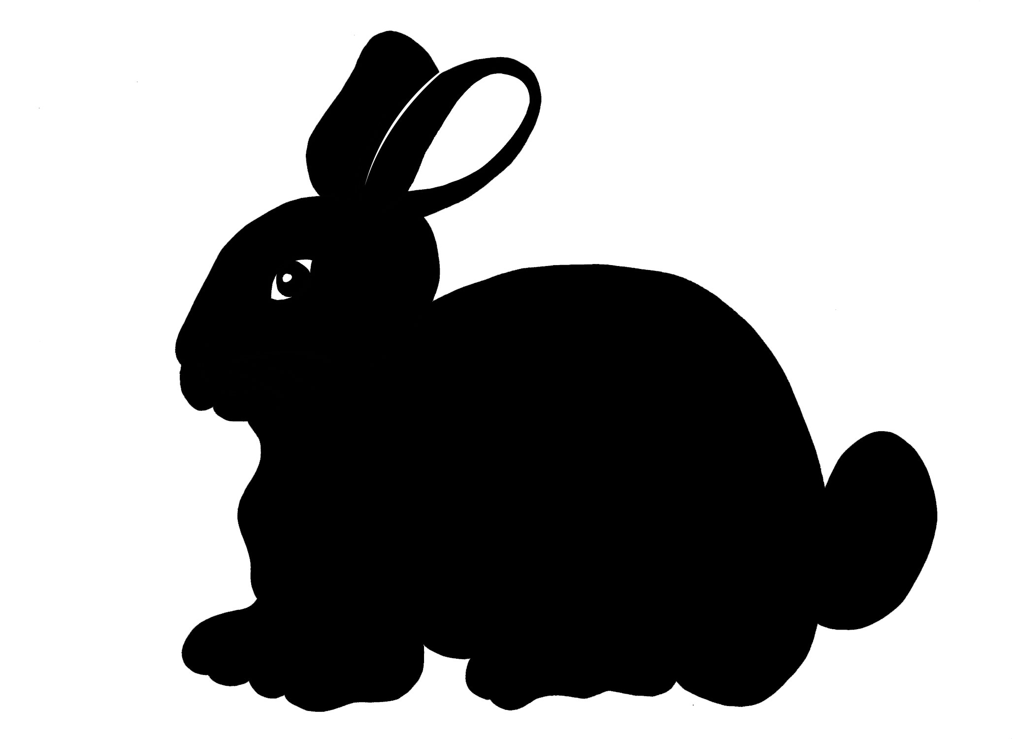 clipart image easter bunny silhouette - photo #22