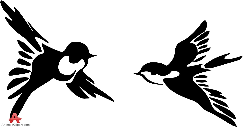 Silhouette Of A Flying Bird - ClipArt Best