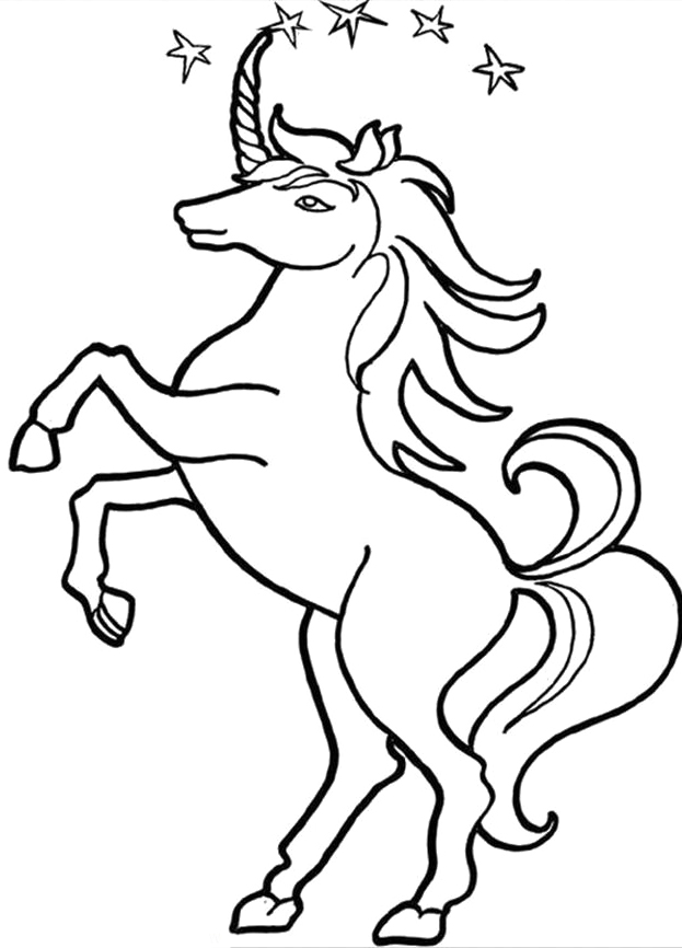 Unicorn Pictures To Color ClipArt