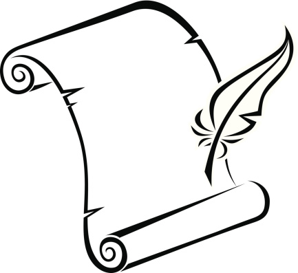 quill and parchment clipart - photo #9