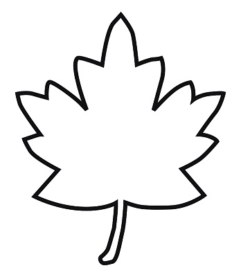autumn leaf outline clipart best