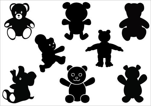 Teddy Bear Silhouette Vector Clipart Best
