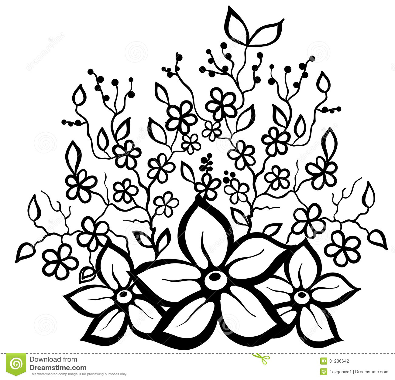 Flower design pattern black and white clipart best - Design black and white ...