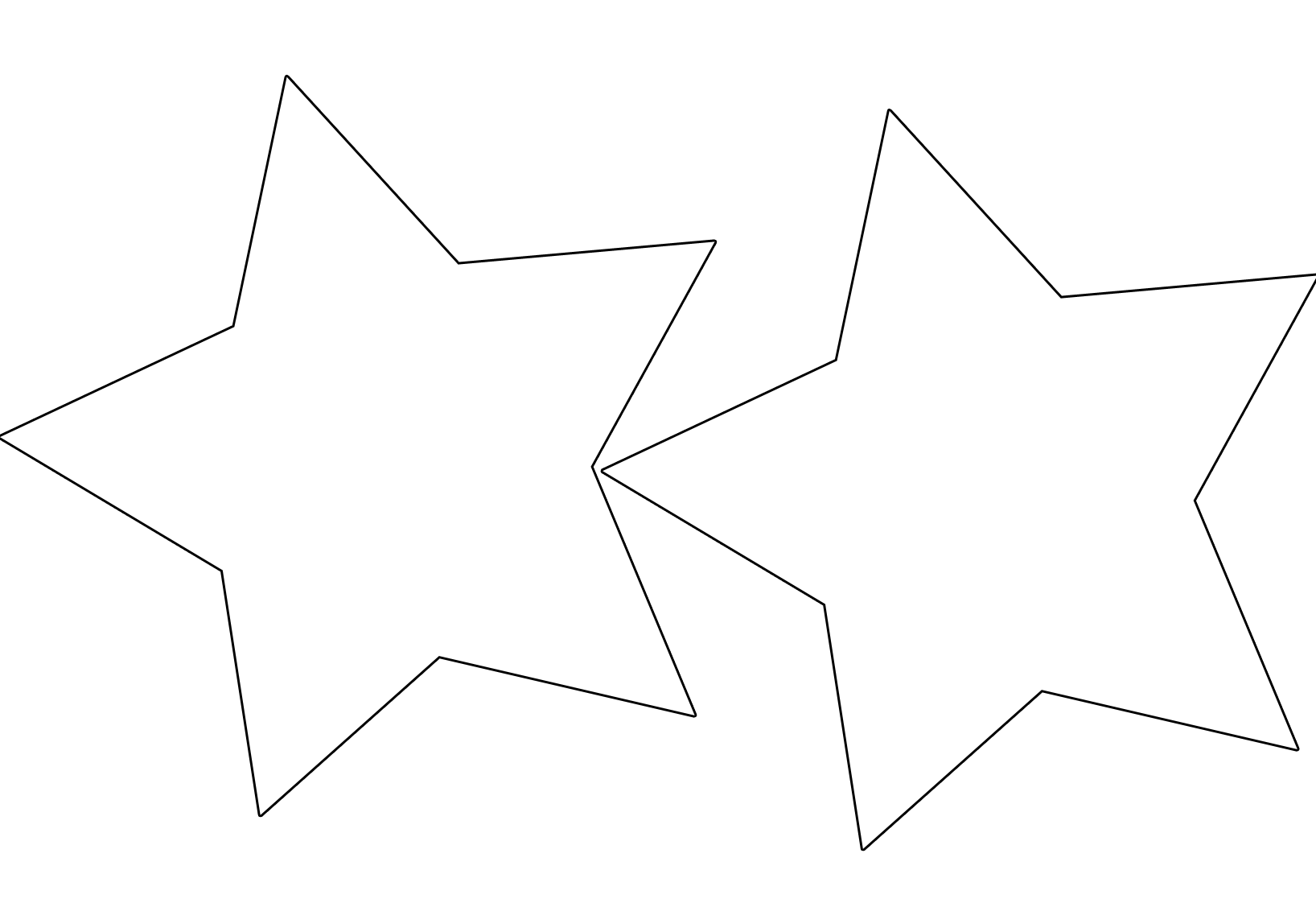 Small star template clipart best for Small star template printable free