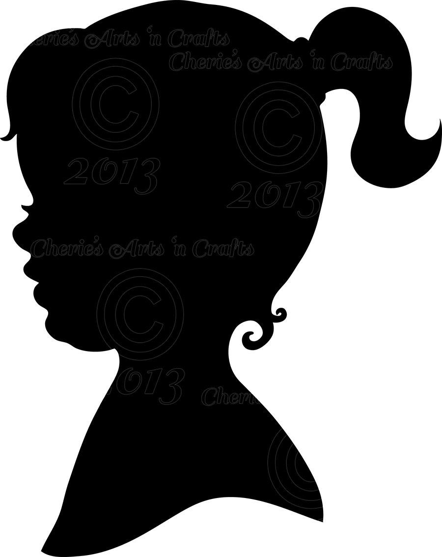 clip art girl silhouette - photo #8