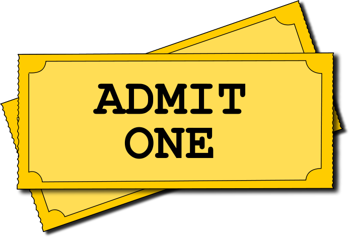 Printable Admit One Ticket Template ClipArt Best – Theatre Ticket Template Free