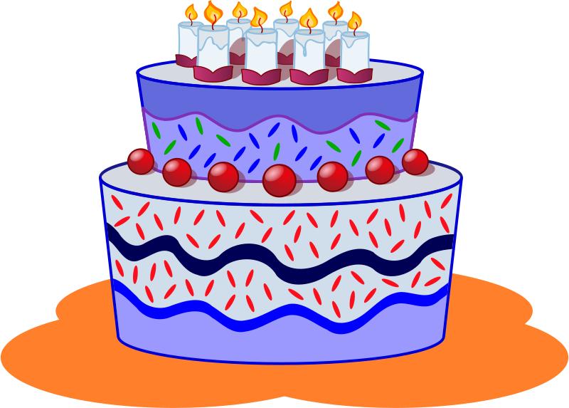 Cake Designs Cartoon : Bday Cake Cartoons - ClipArt Best