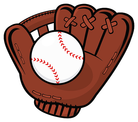 Cartoon Of Baseball Glove Clip Art, Vector Images & Illustrations ...