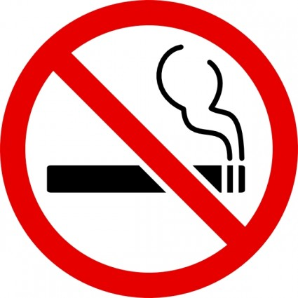 Clipart no smoking symbol