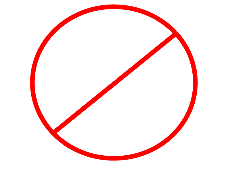 NO CIRCLE - ClipArt Best