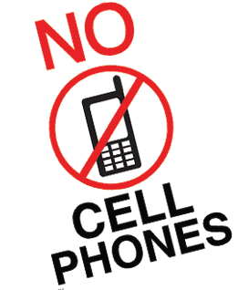 Slobbery image within no cell phone sign printable