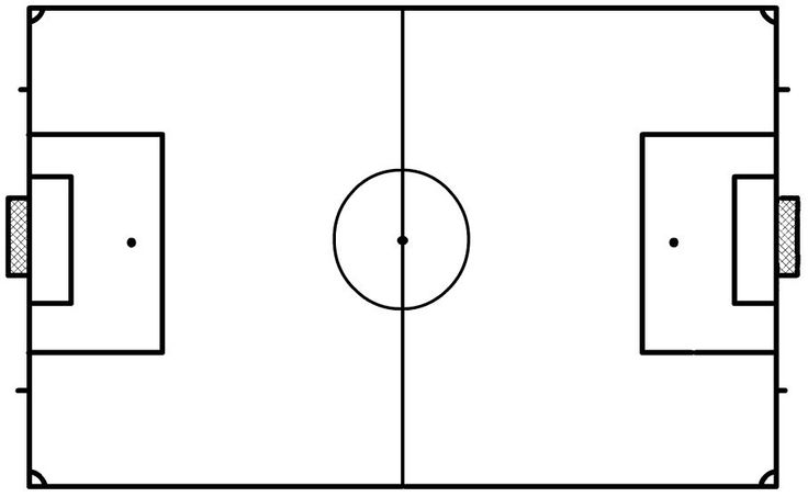 blank football field template - blank soccer field clipart best