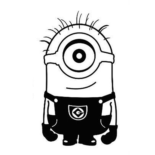 Minions para dibujar facil clipart best for Sala facil de dibujar