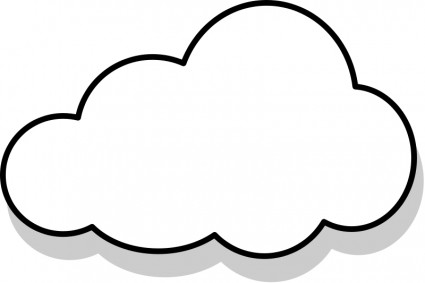 Cloud template clipart best for Cloud template with lines