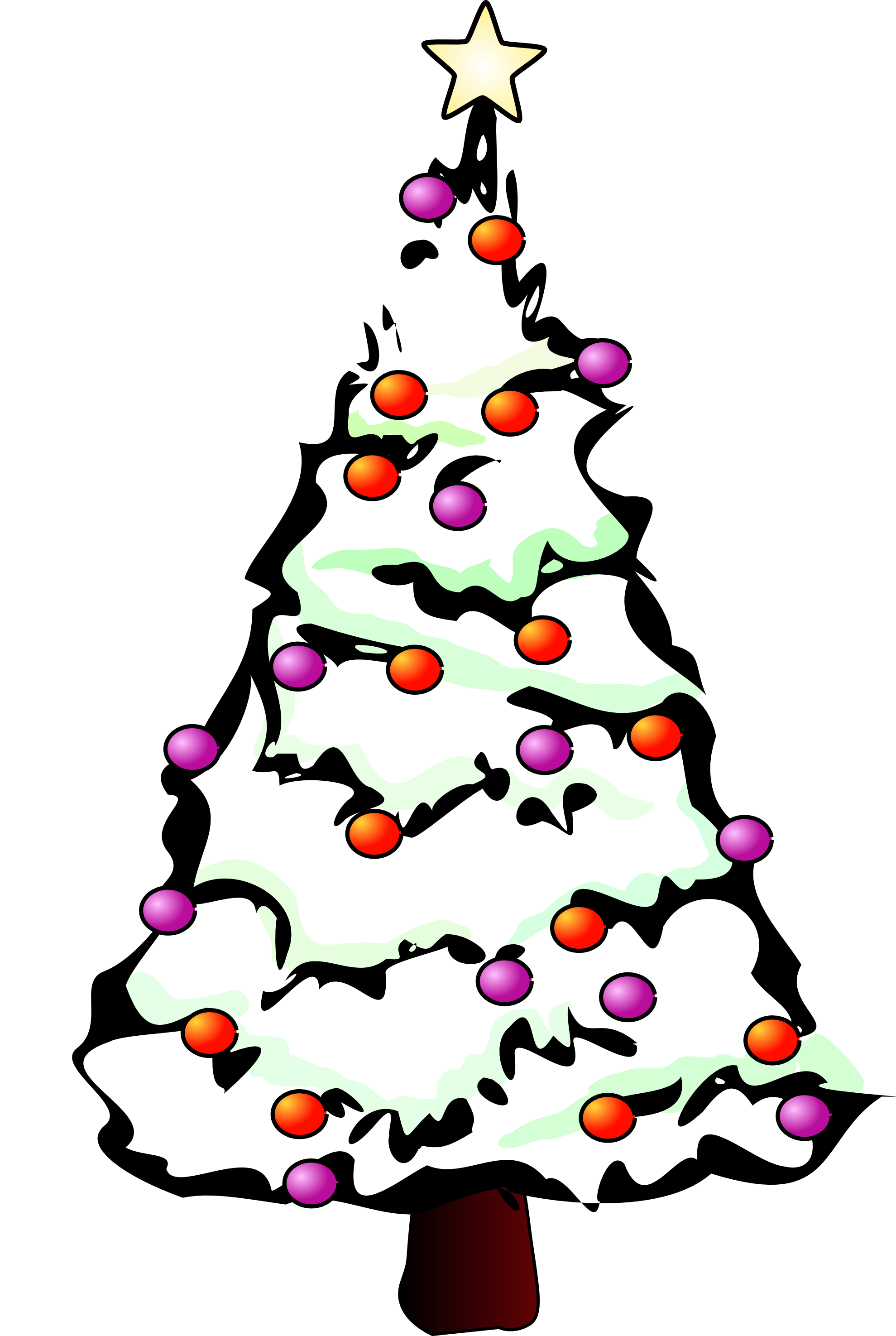 Line Drawing Christmas : Christmas tree line drawing clipart best