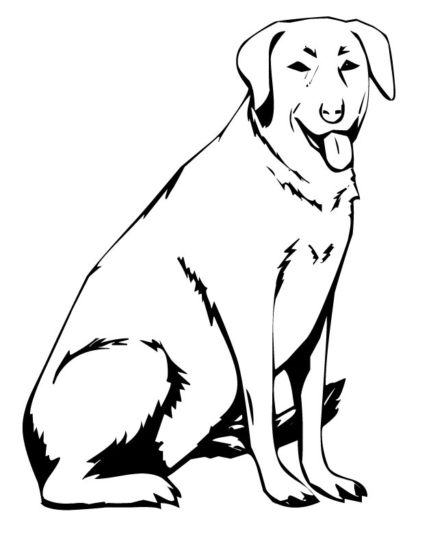 black dogs coloring pages - photo#28