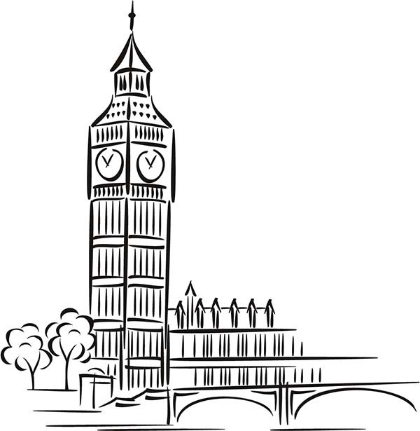 how to draw big ben youtube