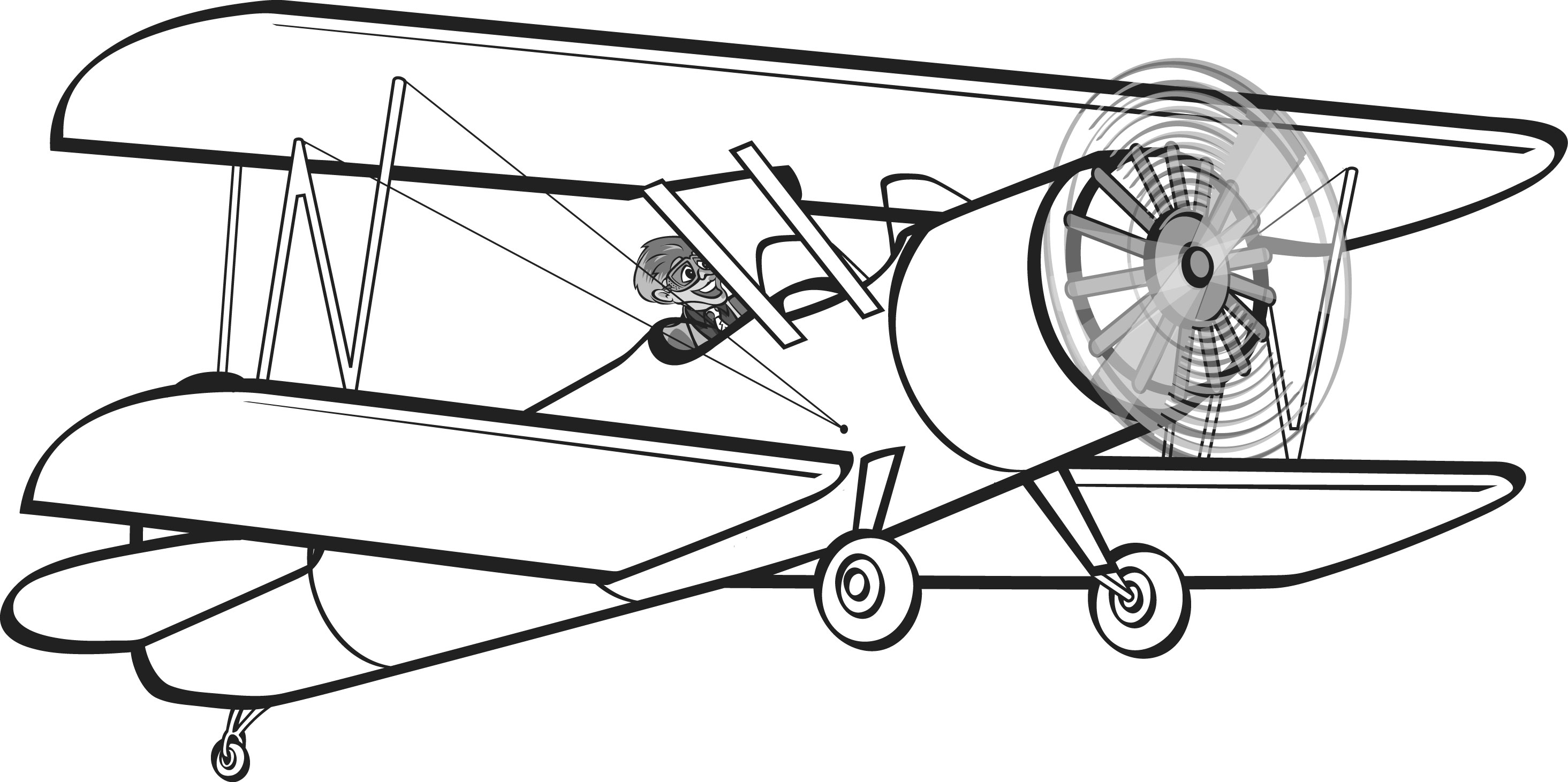 biplane clipart free clipart best airplane clipart free black and white airplane clip art free download
