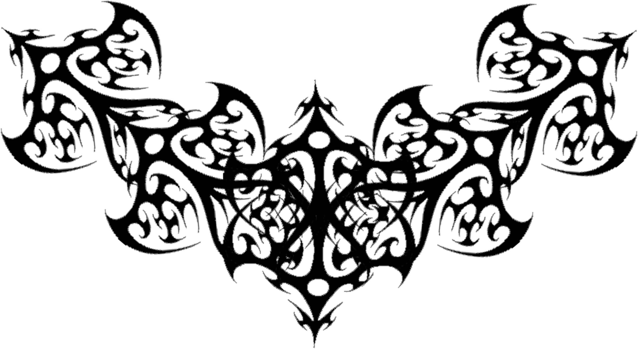 Готический узор в тату