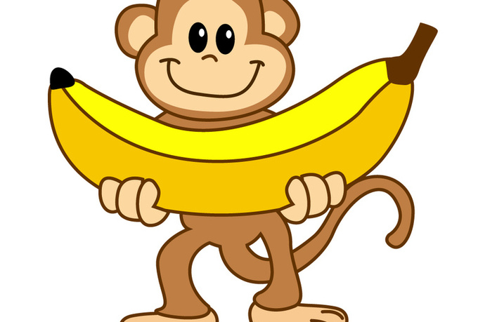Banana Monkey Cartoon - ClipArt Best