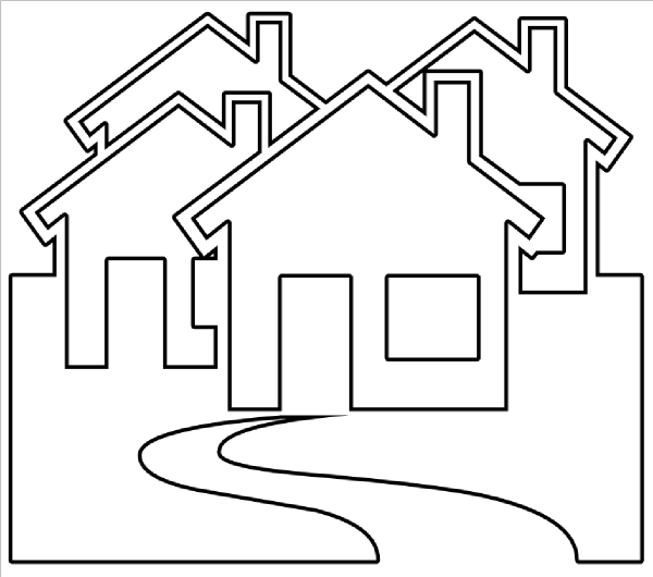 Line Drawing House