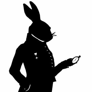 Amazon.com: The White Rabbit Alice in Wonderland Silhouette Print ...
