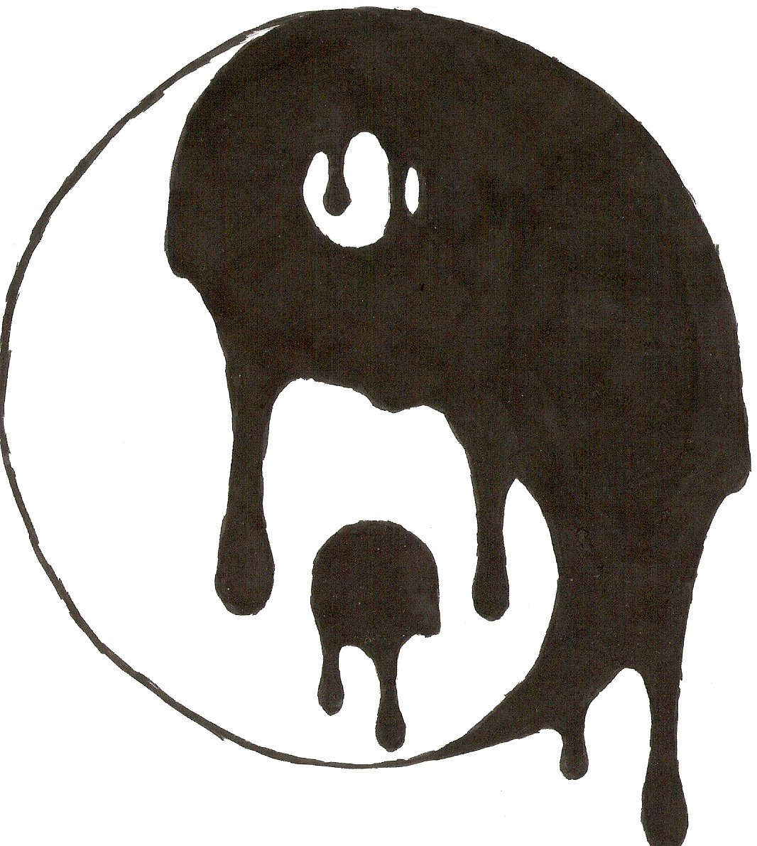 Yin yang design clipart best for Cool but simple things to draw