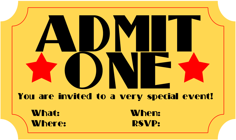 Admit One Ticket Template Microsoft Word from www.clipartbest.com