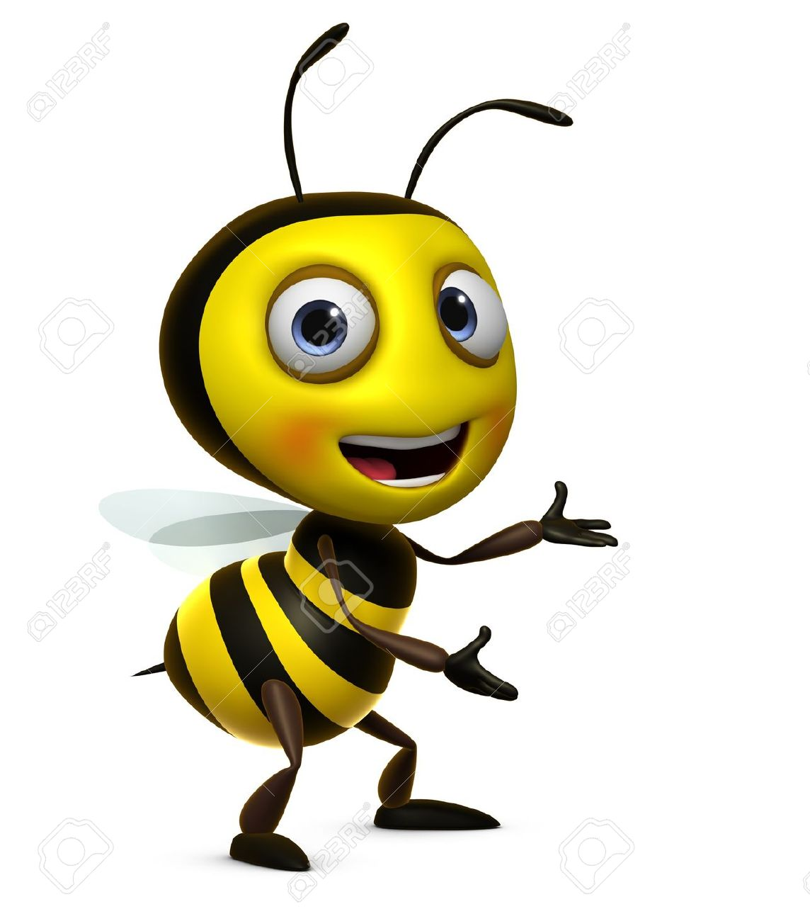 Cute animated bees