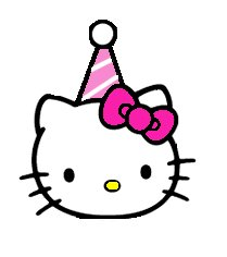 Hello kitty clip art lazy
