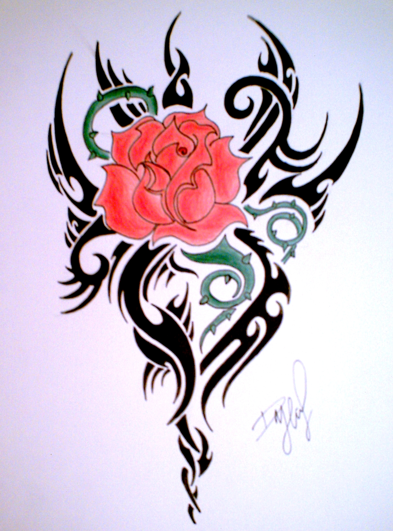 heart and flower tattoo designs clipart best. Black Bedroom Furniture Sets. Home Design Ideas