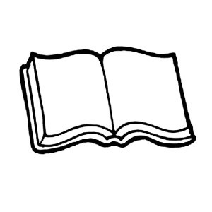 Open Book Coloring Pages Clipart Best Book Colored