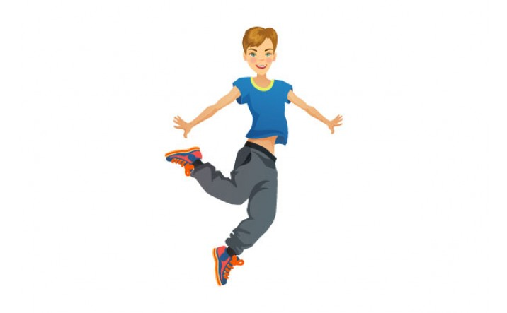 Cartoon Characters Dancing : Breakdancing vector clipart best