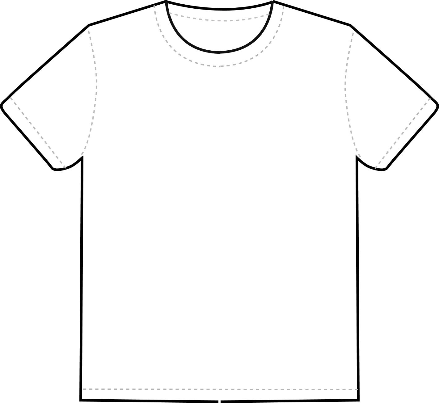 T Shirt Template Free - ClipArt Best