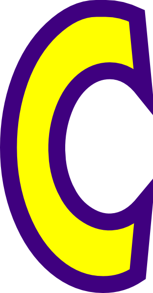 the gallery for gt letter c blue and yellow logo