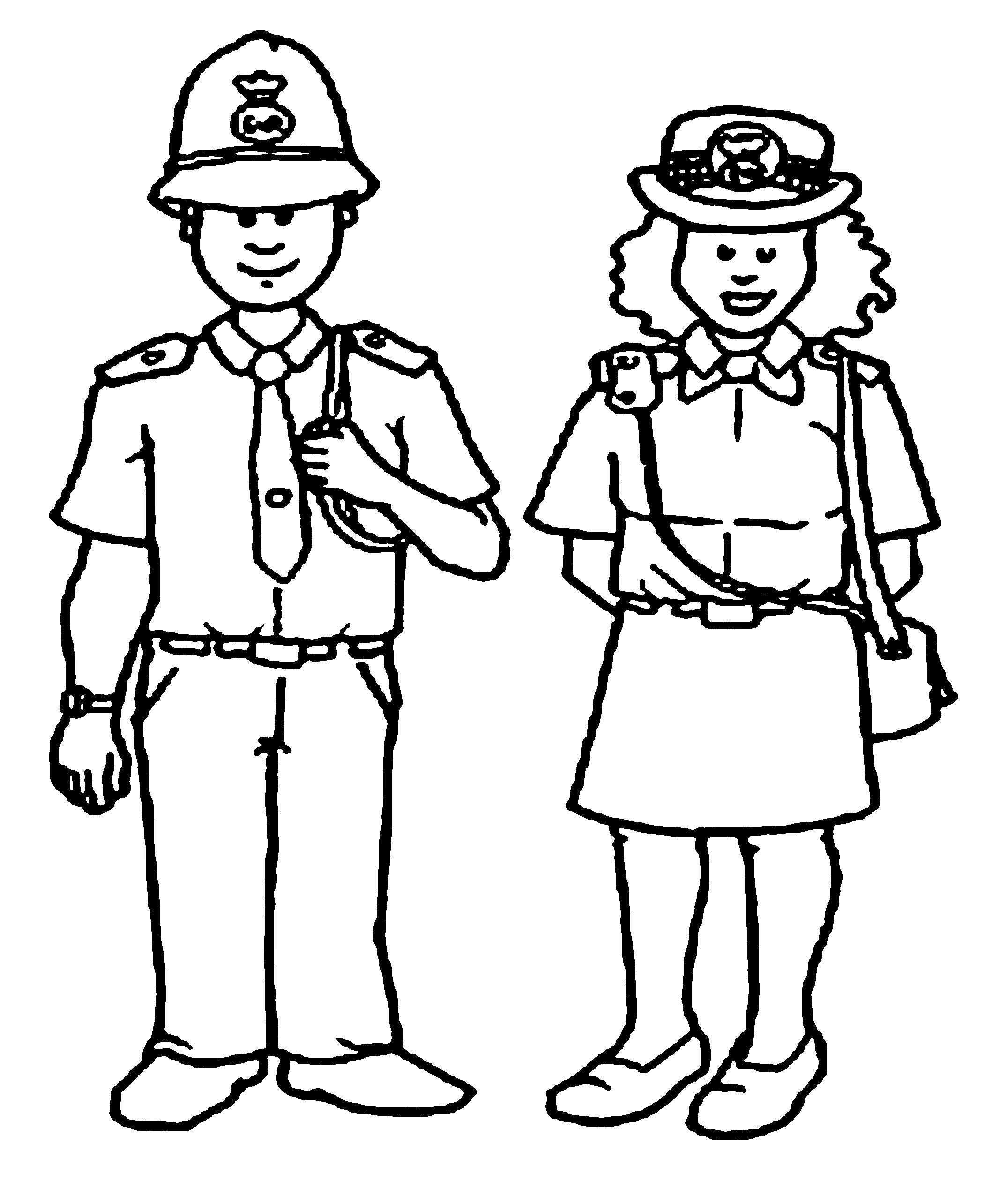 policeman coloring pages kids - photo#32