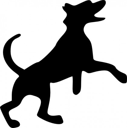 Barking Dog clip art Vector clip art - Free vector for free download