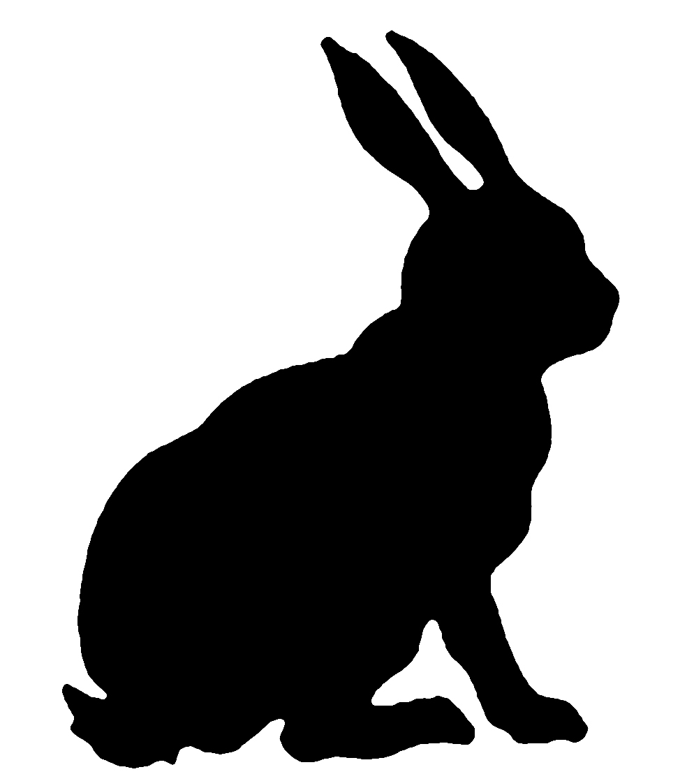 clipart image bunny silhouette - photo #36