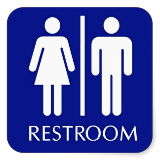 Clever image for bathroom signs printable
