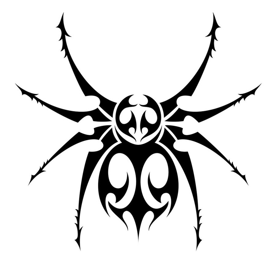 really cool tribal designs on spiders clipart best