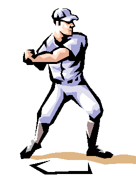 Free Clipart Baseball Player