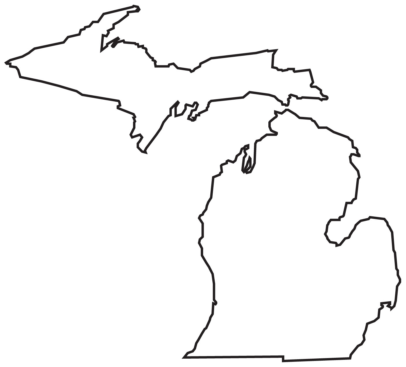 Michigan Printable Map - ClipArt Best - ClipArt Best