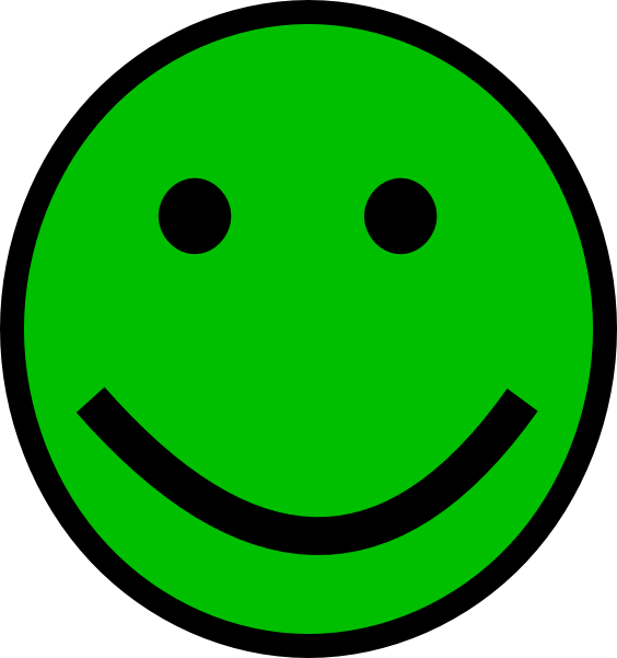 Green Smiley Face clip art - vector clip art online, royalty free ...